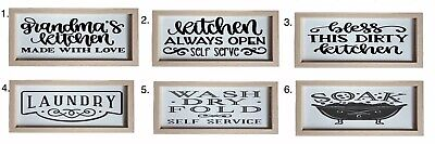 Wooden Kitchen / Bathroom / Laundry Sign • 8£