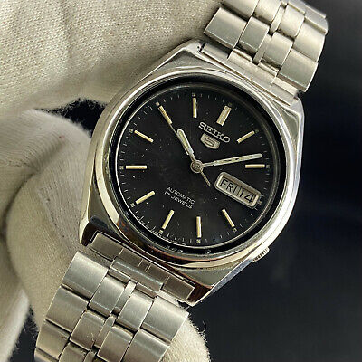 $ CDN2.57 • Buy Vintage Seiko 5 Automatic 17 Jewels Cal.7009A Day Date Men's Wrist Watch