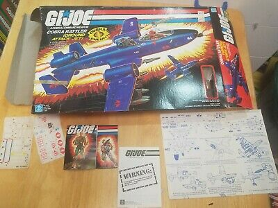 $ CDN101 • Buy GI Joe Cobra Rattler BOX And Paperwork Only