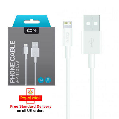 £1.99 • Buy 100% Genuine Core USB Data Sync Charging Cable Charger Lead For IPhone IPad IPod