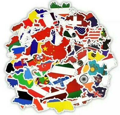 £3.99 • Buy Country National Flag 49 Stickers Travel Lover Gift/Educational/Geography/Diary