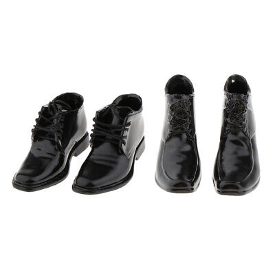$14.66 • Buy 2 Pairs Of 1/6 PU Leather Shoes For 12  BBI Enterbay Men Figures Accessory