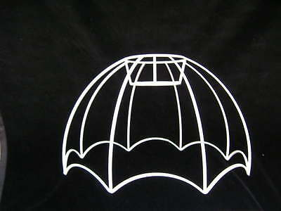 Reverse Scalloped Retro Style Wire Lampshade  Frame  18  Base • 14£