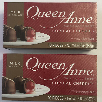 $8.99 • Buy Queen Anne Cordial Cherries Milk Chocolate-covered 10 Count Box 2 Packs