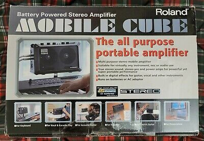 AU233.51 • Buy Roland MOBILE CUBE Battery-Powered Stereo Amplifier Guitar Amp