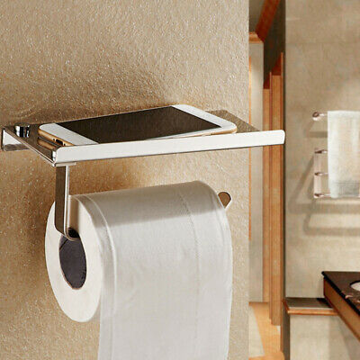 AU22.62 • Buy Bathroom Wall Mounted Toilet Paper Holder Rack Tissue Roll Stand Stainless New
