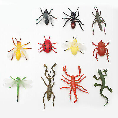 £3.62 • Buy 12pcs PVC Insect Figures Bugs Lifelike For Children Educational Toys Gifts UK
