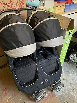 Baby Jogger City Mini Double Pushchair, With Two Footmuffs And Rain Cover • 100£
