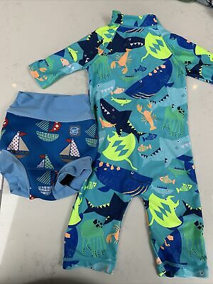 Splash About Swim Nappy (XL Age 1-2) And Swim All In One Suit • 3.86£
