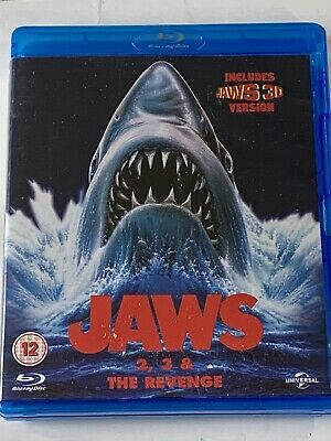 Jaws : Jaws 2 Jaws 3 & Jaws The Revenge (3 Disc Blu-ray Set) + Jaws 3 3D Version • 9.95£