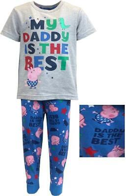 £8.99 • Buy Fab Boys Blue George Pig Cotton Pyjamas  My Daddy Is The Best  Sizes 18m- 5year