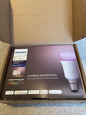 AU117.22 • Buy Philips Hue Ambiance Mini Starter Kit B22 - White And Colour - Brand New Unused