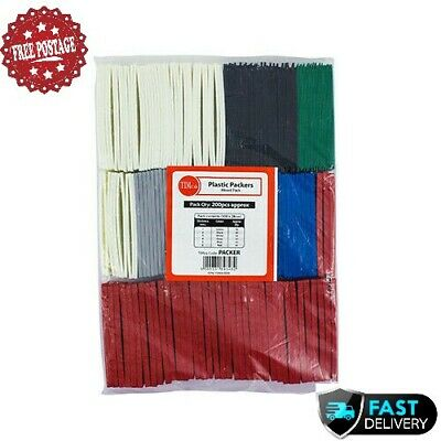 200 X TIMco Flat Packers Mixed Packers Window Wedges & Glazing Packer Spacer  • 9.79£