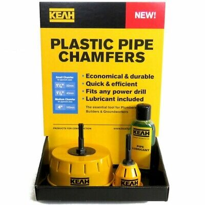 Pipe Chamfering Tools For 110mm Soil Pipe & 32/40mmn Push Fit Pipes • 49£