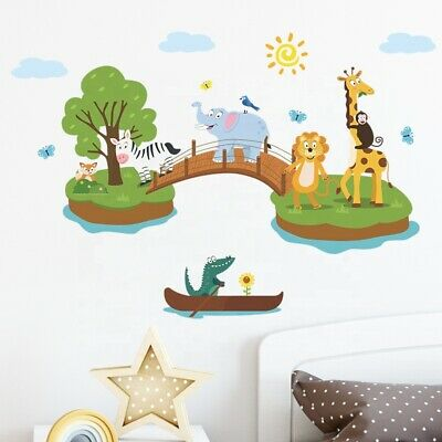 £7.98 • Buy Removable Animal Jungle Zoo Wall Sticker Decal Baby Kids Children  Room