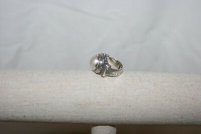 $247.77 • Buy Mabe Pearl Vintage Sterling Silver And 14K Ring ~ Sz 7