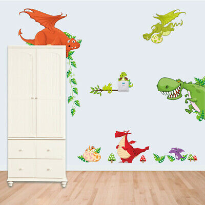 £6.49 • Buy Dinosaurs Dragon Removable Large Wall Sticker Baby Kids Room Children