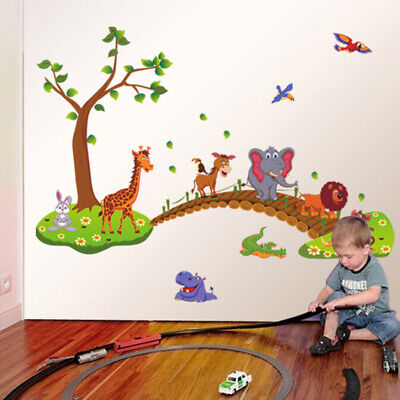 £8.98 • Buy Removable Animal Jungle Zoo Elephant Wall Sticker  Baby Kids Children  Room