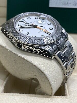 $ CDN14590.04 • Buy Rolex 216570 Explorer II 42mm Dragon HAND ENGRAVED Box Papers