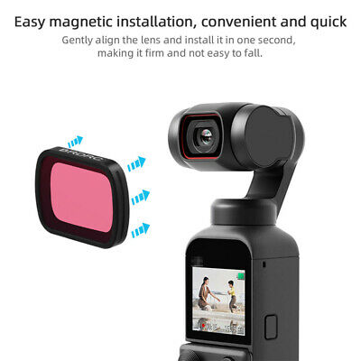 Underwater PTZ Camera Accessories Removable Videos Diving Filter For OSMO Pocket • 8.76£