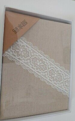 Club Green Hessian Guest Book With Lace Trim  / Wedding  • 7.50£