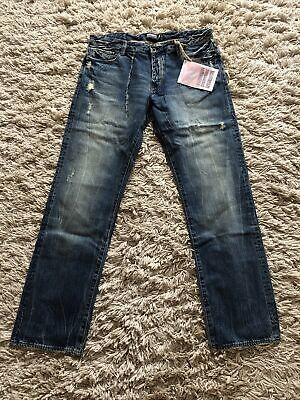 King Krash By Donwan Harrell PRPS Distressed Premiuim Japanese Denim Jeans W36 • 12.50£