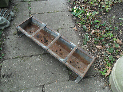 Vintage Small Galvanised Trough Garden Planter With Drainage Holes-2 Feet Long • 23.50£
