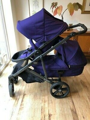 Britax B-Ready Tandem Double 2-Seat Baby Pram/Pushchair With Extras • 125£