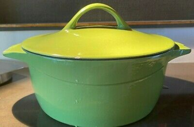 $ CDN101.48 • Buy Calphalon Enamel Cast Iron 5 Quart Dutch Oven, Chive Green Self Basting Lid