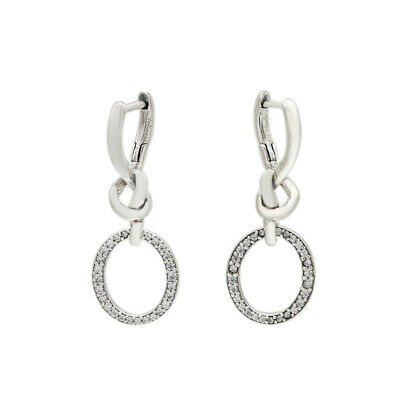 Pandora Earrings S925 Ale Oval Knotted Heart Drop  UK • 18.79£