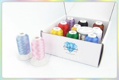 £30.24 • Buy Embroidery Filament Dyed Thread For Brother Janome Machine Knitting Supplies New
