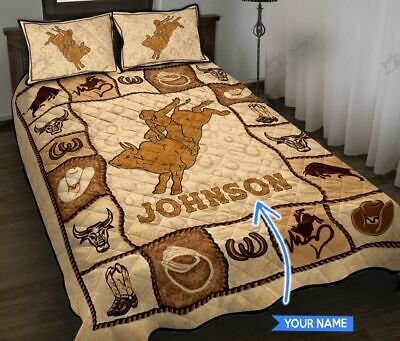 Bull Riding Personalized Quit Bed Set  • 50.65£