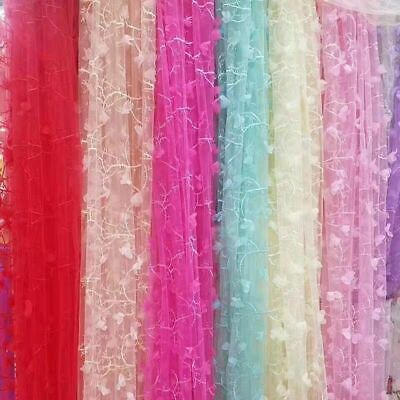 £9.01 • Buy 1M DIY Lace Embroidered Mesh Sewing Fabric Wedding Gown Tulle Cloth 55'' Width