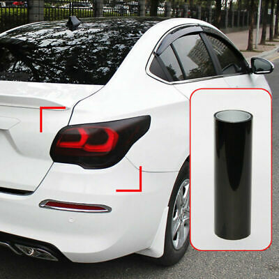 $7.48 • Buy Dark Smoke Black Car Rear Lights Tail Light Film Sticker Trims Wrap Accessories