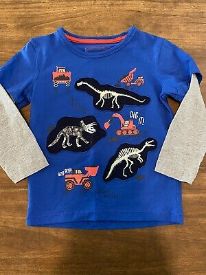 Bluezoo At Debenhams Boys Age 3-4 Dinosaur Tshirt • 1.50£