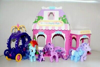 My Little Pony Hasbro Play Set Rainbow Dash Candy Café Carriage 6 Figures Gift • 14.99£