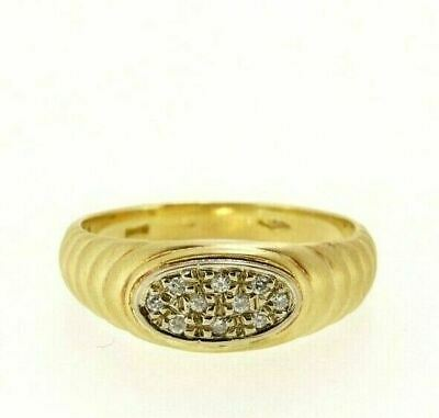 AU699.65 • Buy Ring Used Reconditioned Yellow Gold Solid 18K With Natural Diamonds
