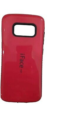 IFace Case For Samsung Galaxy S8 Phone - Bright Red - Used But In Good Condition • 2.10£