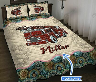 Fire Truck Personalized Quilt Bed Set  • 50.65£