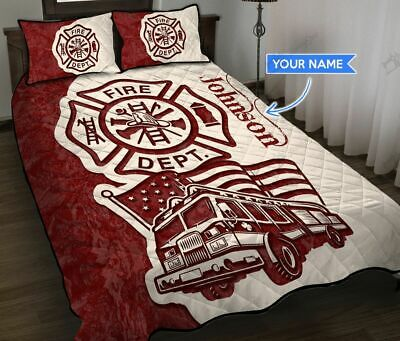 Firefighter Fire Truck Personalized Quilt Bed Set  • 50.65£