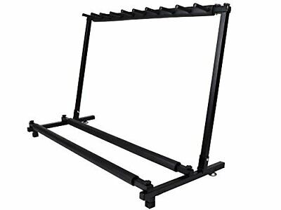 $ CDN85.01 • Buy  Guitar Stand 9 Holder Guitar Folding Stand Rack Band Stage Bass Acoustic Guitar