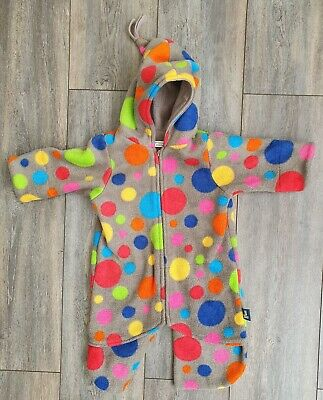 £12 • Buy BUGGY SNUGGLE Pushchair Carseat Suit - Fleece - Spotty - All In One - Zip - 0-6M