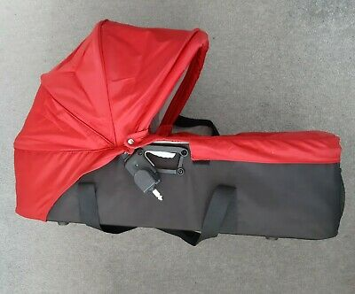 Baby Jogger City Mini / GT Compact Carrycot Red/Black Includes Double Adaptors • 40£