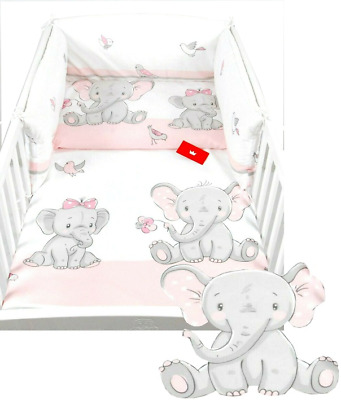 £22.99 • Buy 3 PIECES NURSERY - BABY BEDDING SET- BUMPER- PILLOW-QUILT COVER To Fit COT