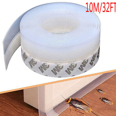 £6.98 • Buy Door Strip Seal Adhesive Draught Excluder Window Tape Weather Silicone Stopper