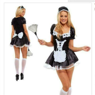 £14.69 • Buy WomenFancy Dress  French Maid Costume Outfit Hen Party Naught Feather Duster LOT