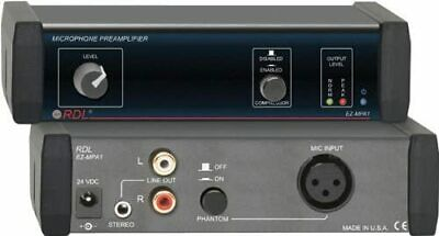 £60 • Buy RDL EZ-MPA1 Microphone Preamplifier - Stereo Output With Compressors