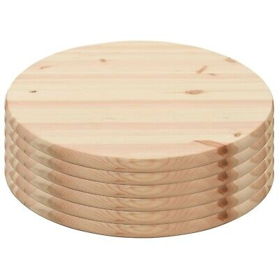 AU553.35 • Buy Round Table Tops Wooden Tabletops Dining Coffee Garden Tables Accessories 6 Pack