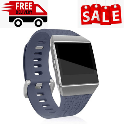 AU16.99 • Buy Watch Band Fitbit Ionic Replacement Strap Wristband Silicone Soft Large Grey