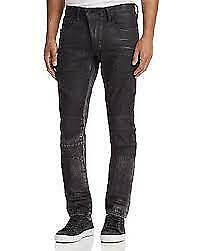 PRPS Tendons Slim Fit Jeans Black Distressed Denim Mens Size 36 (36 X 35) • 21.71£